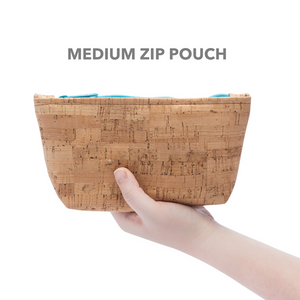 Medium Cork Pouch in Mammoth Grey Print