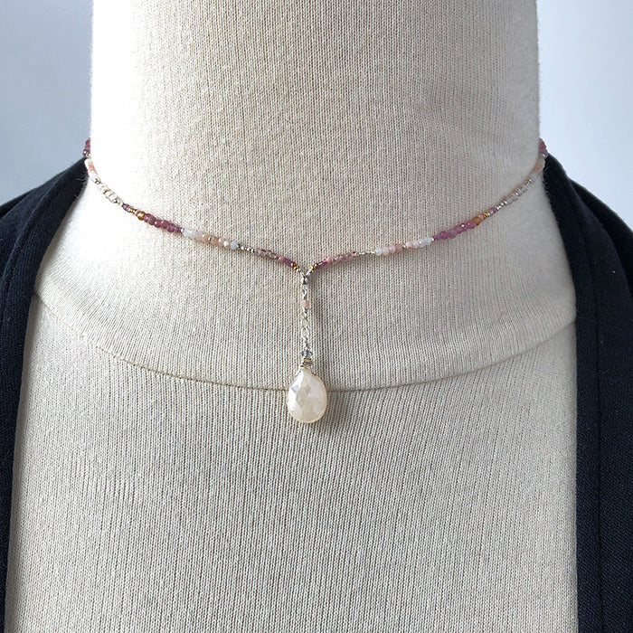 Mother of Pearl Y Necklace - Heart of the Home PA