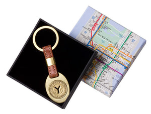New York Transit Token Leather Key Ring