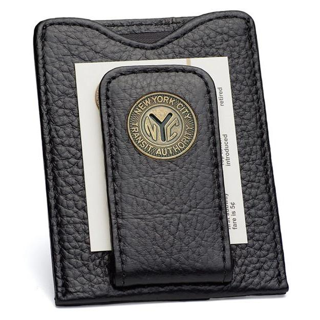 New York Transit Token Money Clip Wallet in Black - Heart of the Home PA