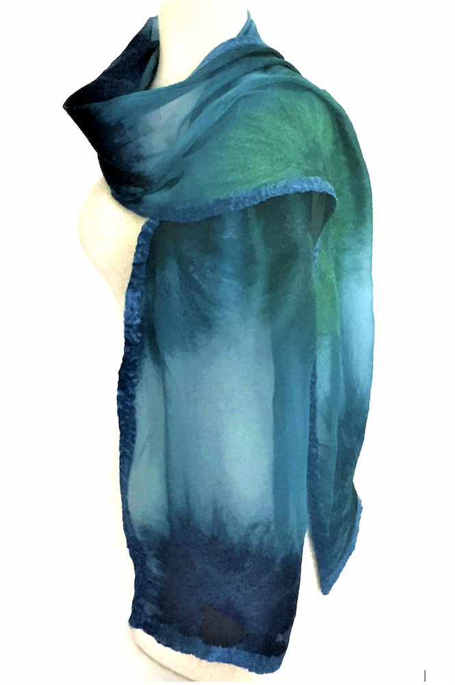 Nina Scarf in Spring Teal - Heart of the Home PA