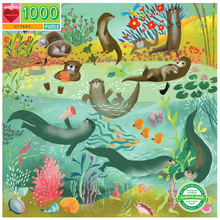 Load image into Gallery viewer, Otters 1000 Piece Puzzle