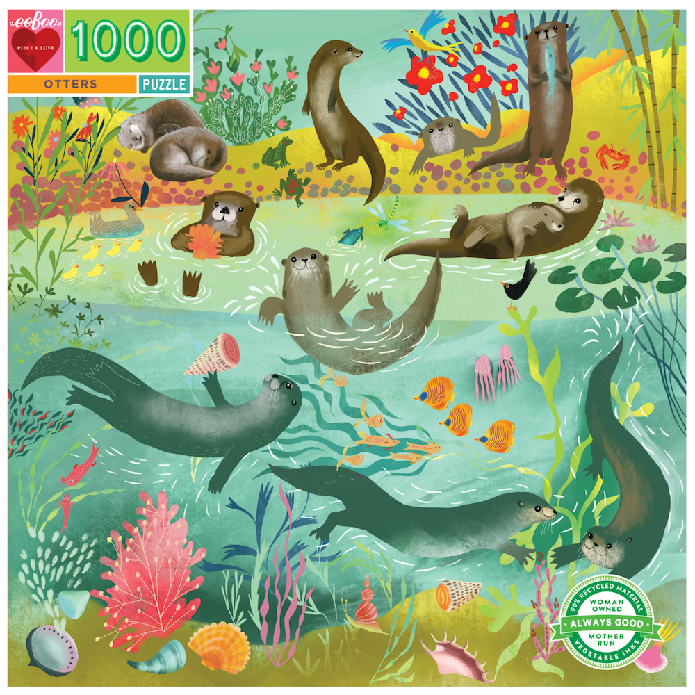 Otters 1000 Piece Puzzle - Heart of the Home PA