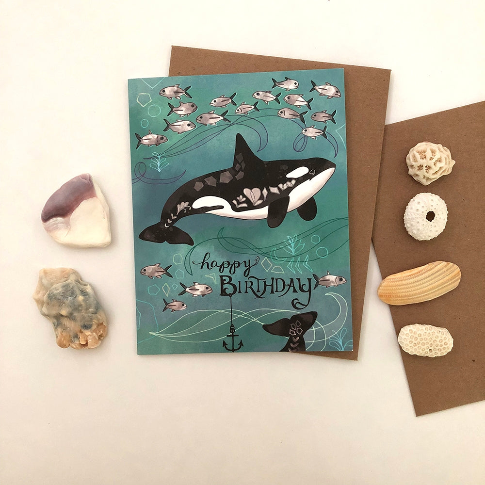 Orca Birthday Card - Heart of the Home PA