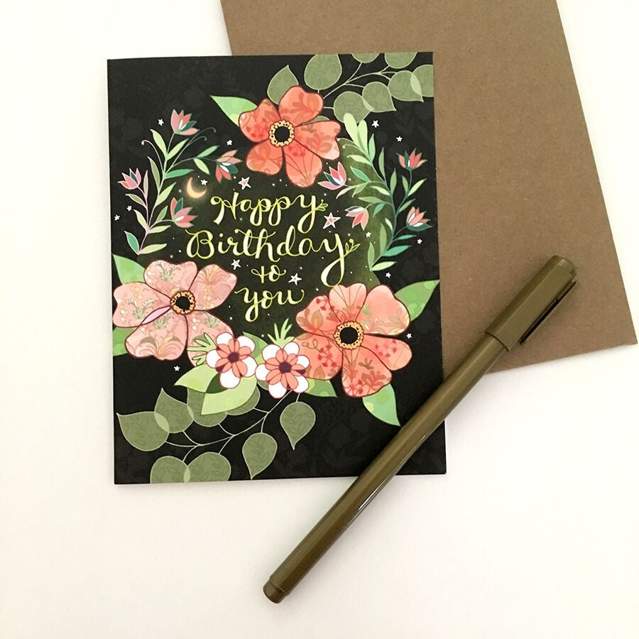 Starry Flower Birthday Card - Heart of the Home PA