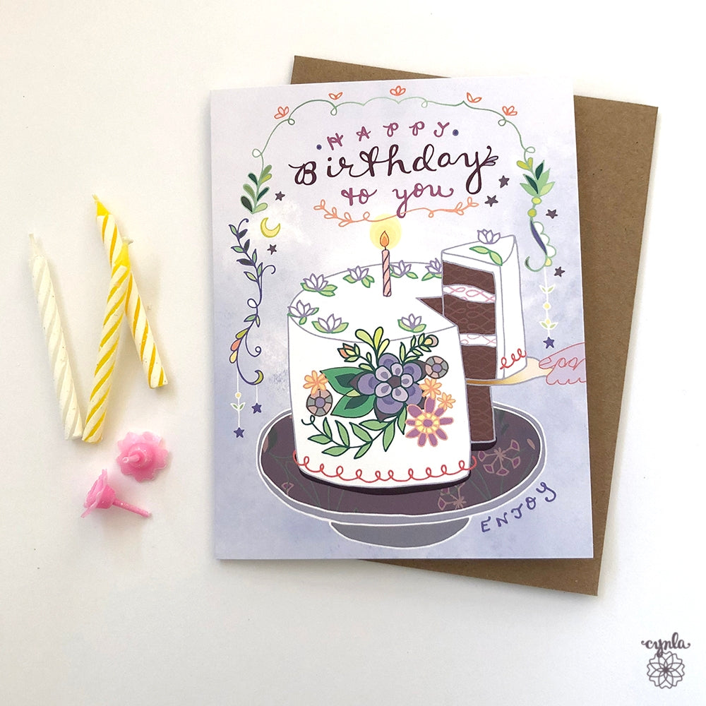Birthday Cake Greeting Card - Heart of the Home PA