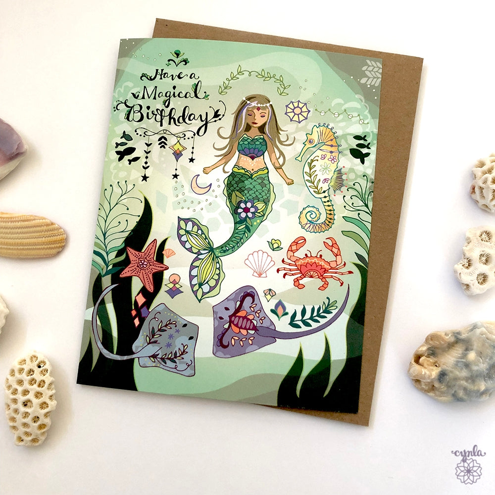 Mermaid Birthday Card - Heart of the Home PA