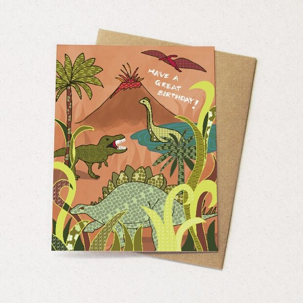 Dinosaur Birthday Card - Heart of the Home PA