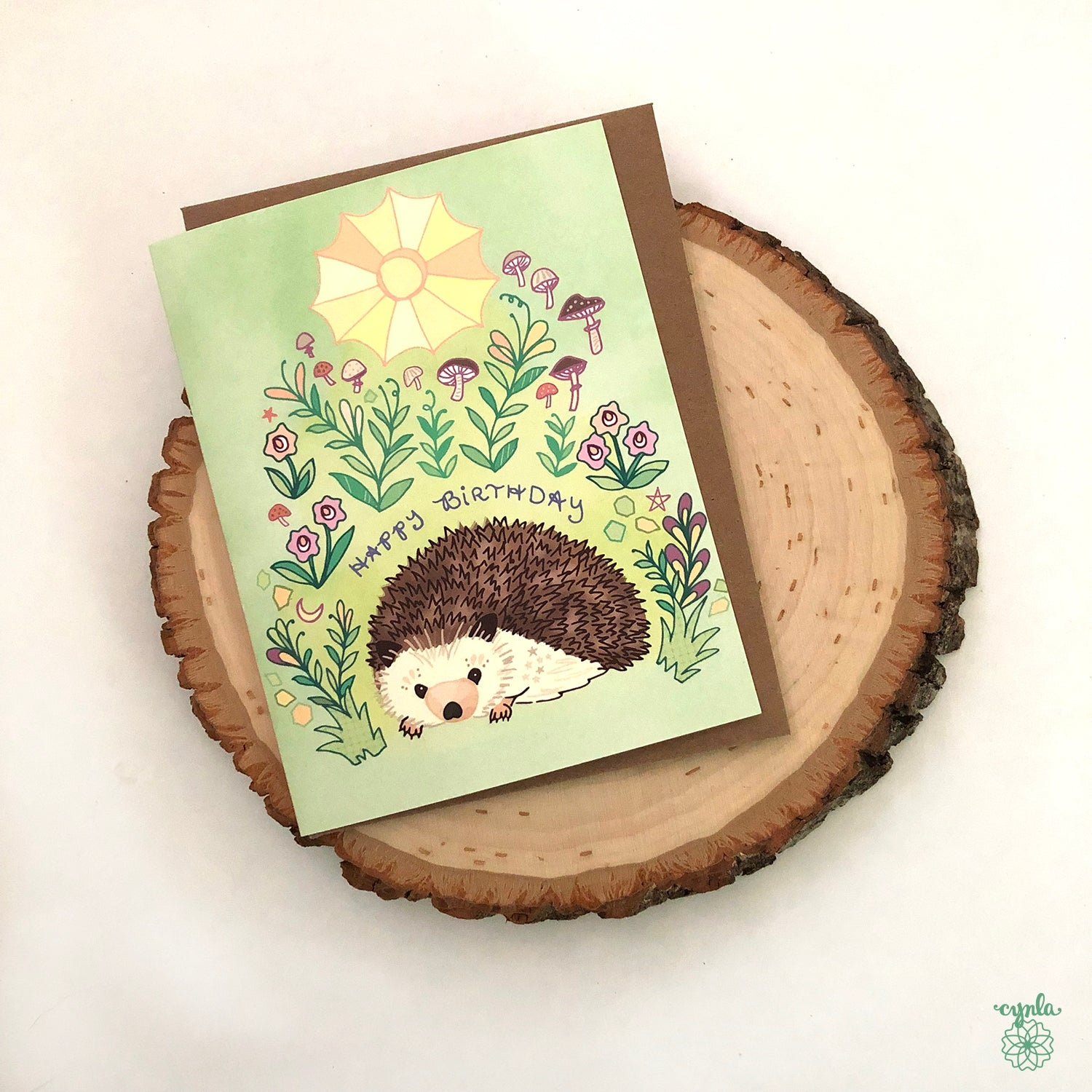 Hedgehog Birthday Card - Heart of the Home PA