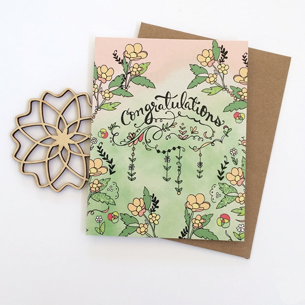 Congratulations Buttercup Card - Heart of the Home PA