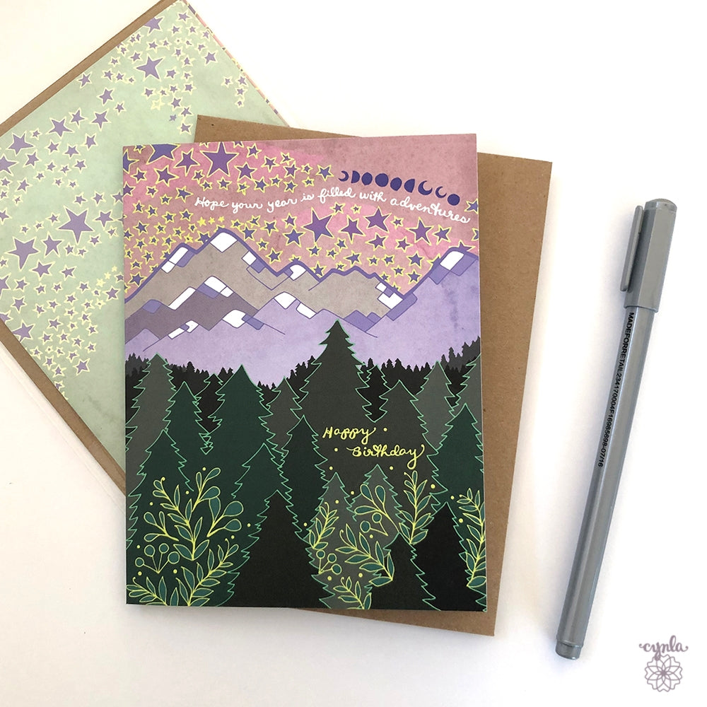 Mountain Birthday Card - Heart of the Home PA