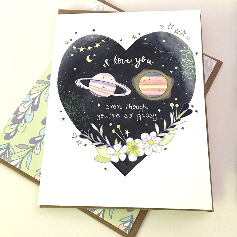 Gassy Planet Card - Heart of the Home PA