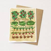Veggie Garden Birthday Card - Heart of the Home PA