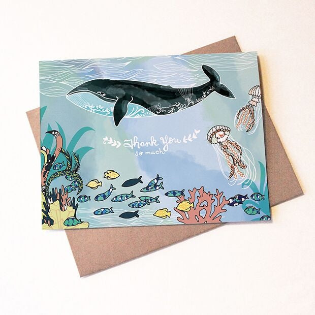 Whale Thank You Card - Heart of the Home PA