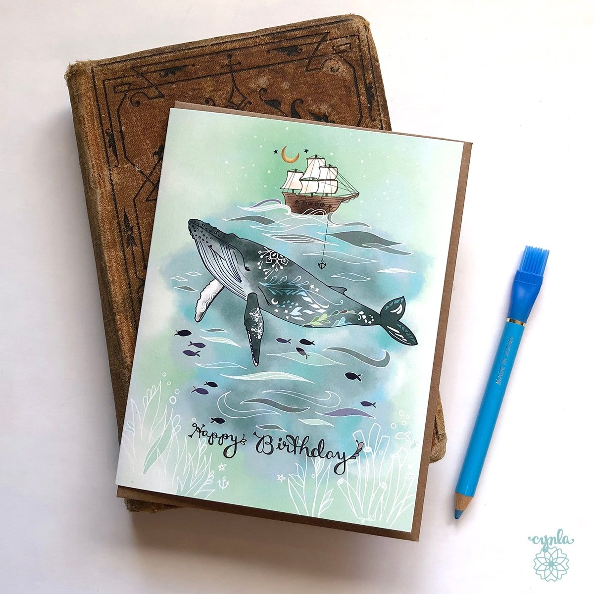 Humpback Whale Birthday Card - Heart of the Home PA