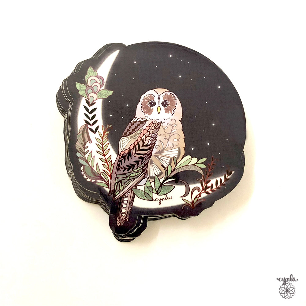 Moon Owl Sticker - Heart of the Home PA