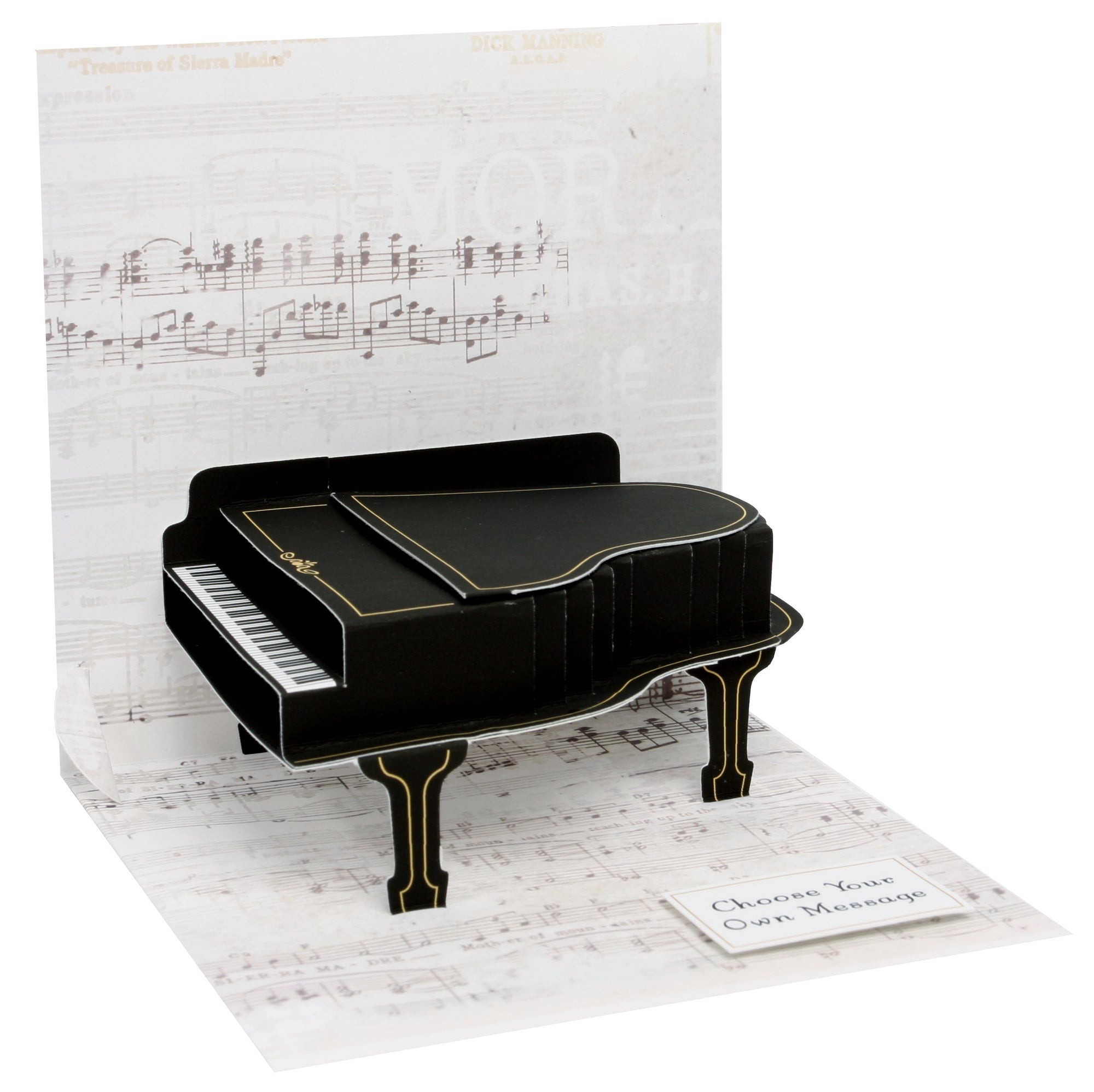 Baby Grand Piano Pop-Up Card - Heart of the Home PA