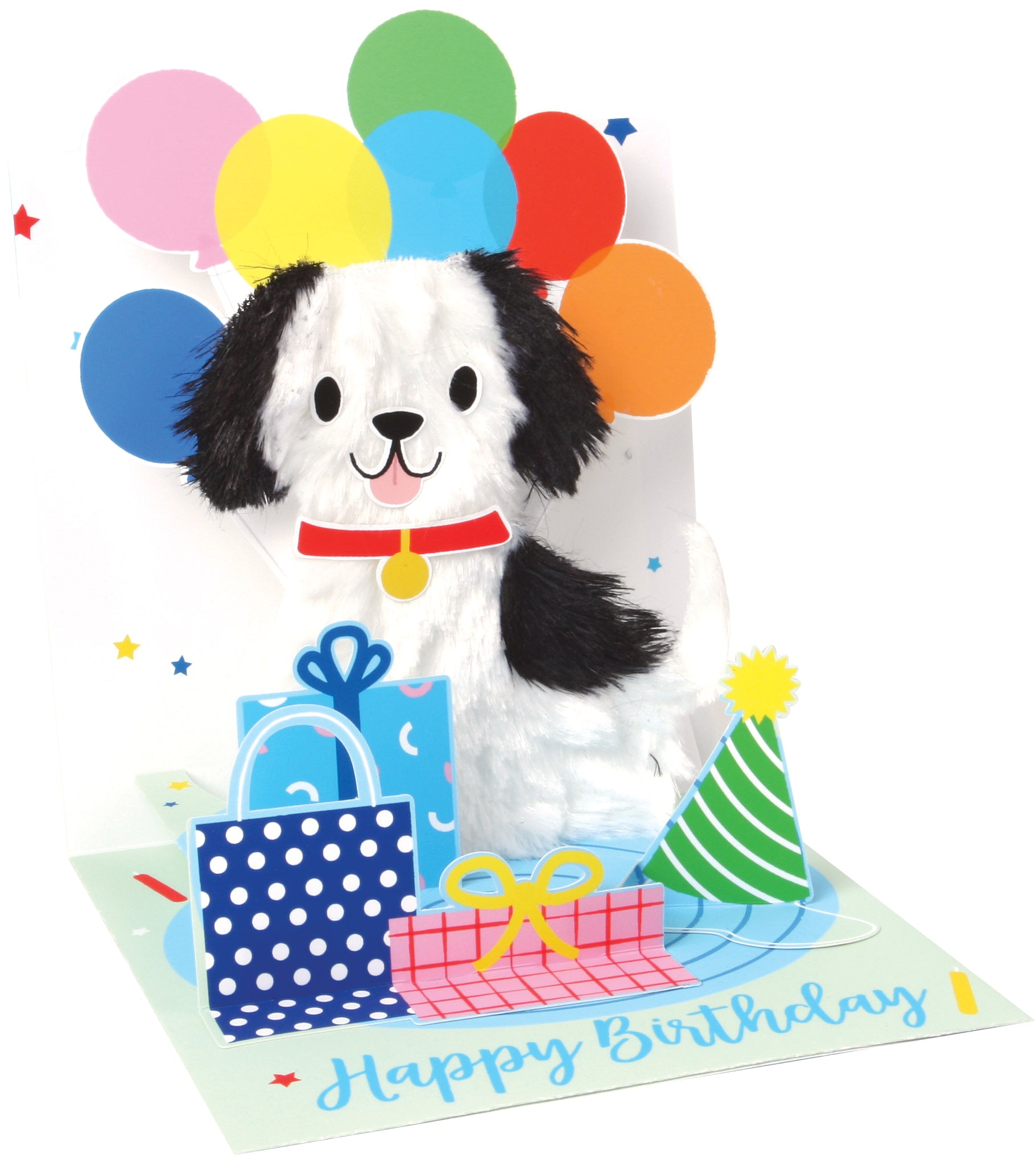 Fuzzy Puppy with Balloons Pop-Up Card - Heart of the Home PA