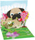 Pug Bouquet Pop-Up Card - Heart of the Home PA
