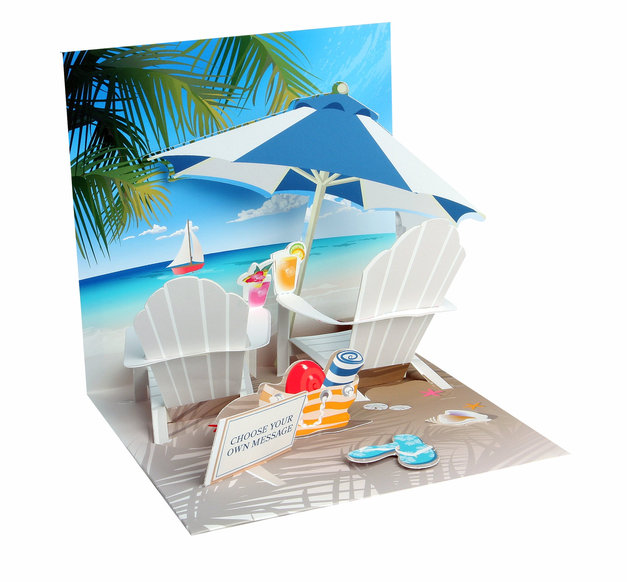 Tropical Beach Pop-Up Card - Heart of the Home PA
