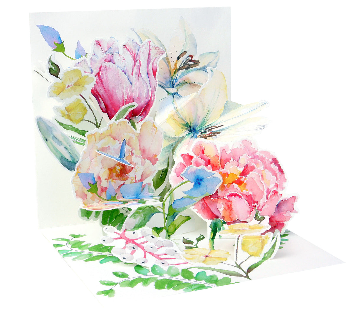 Watercolor Bouquet Pop-Up Card - Heart of the Home PA