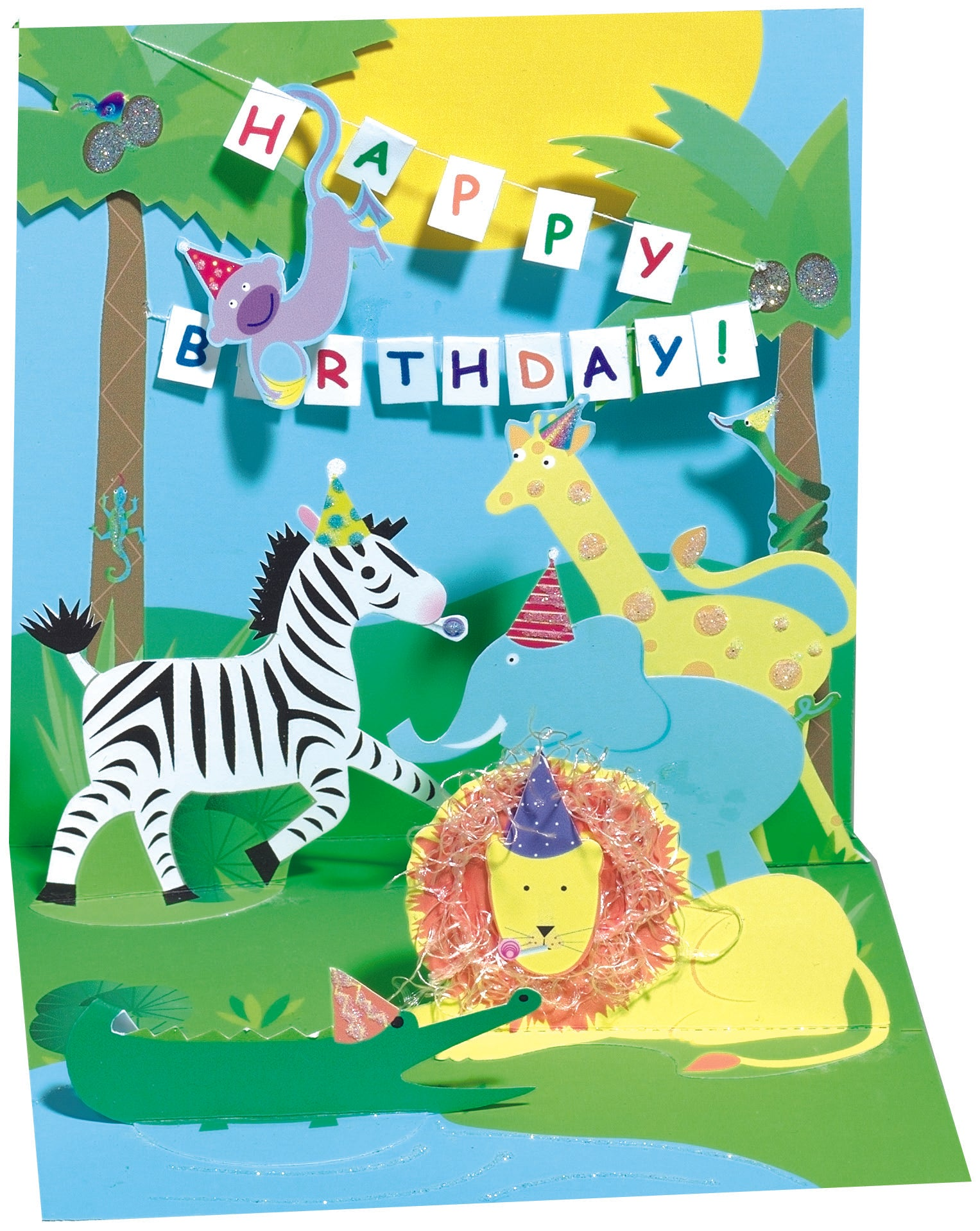 Jungle Party Pop-Up Card - Heart of the Home PA