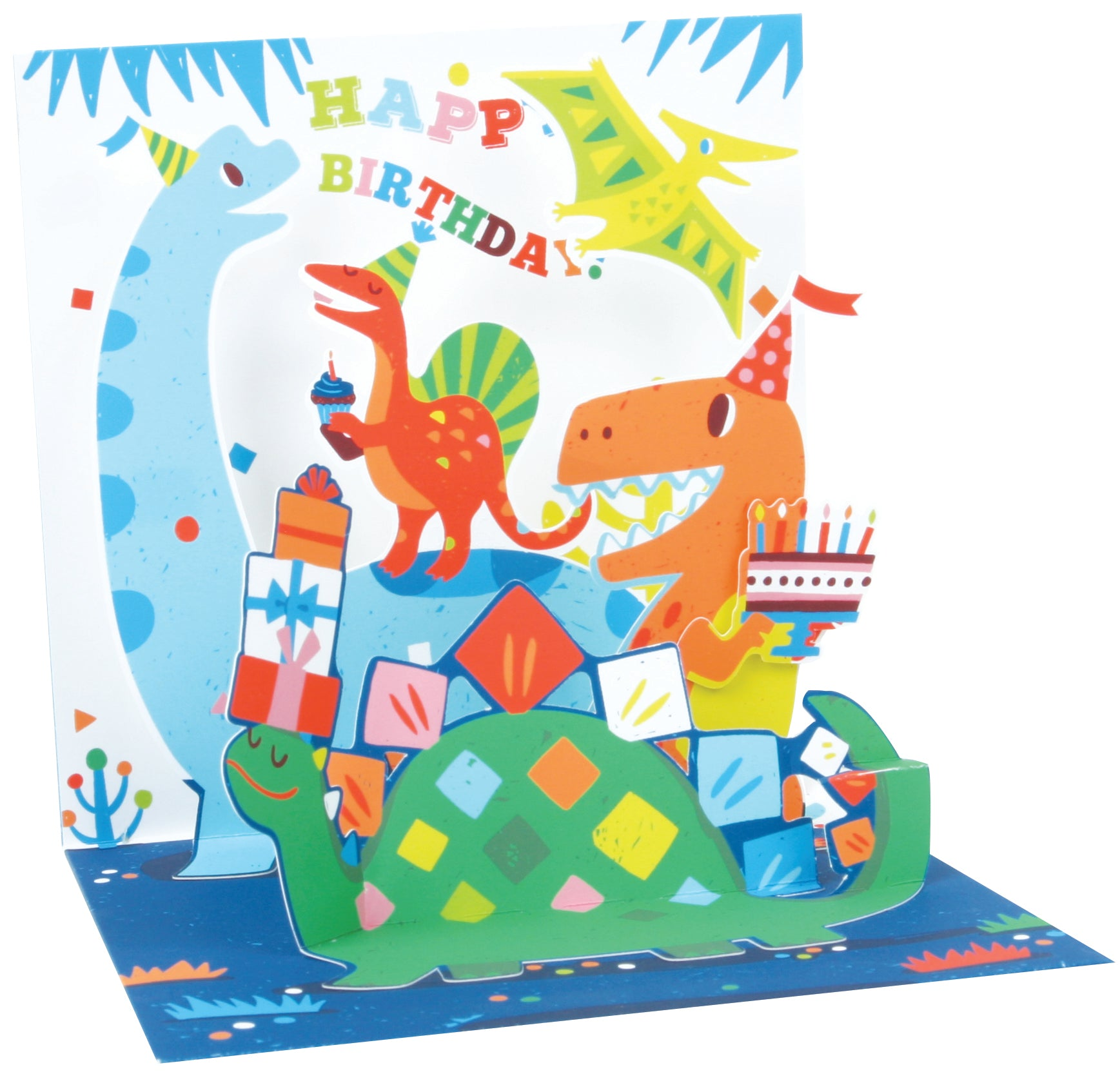 Dinosaur Party  Pop-Up Card - Heart of the Home PA