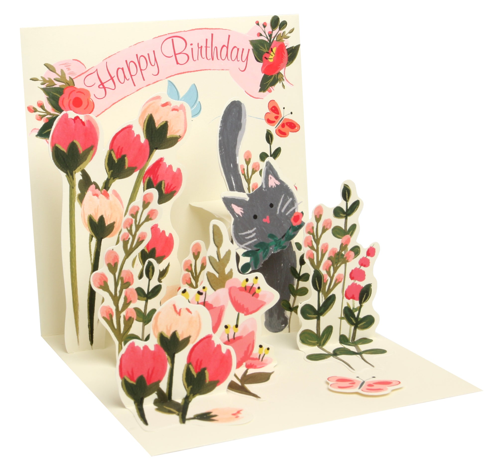 Botanical Cat Pop-Up Card - Heart of the Home PA