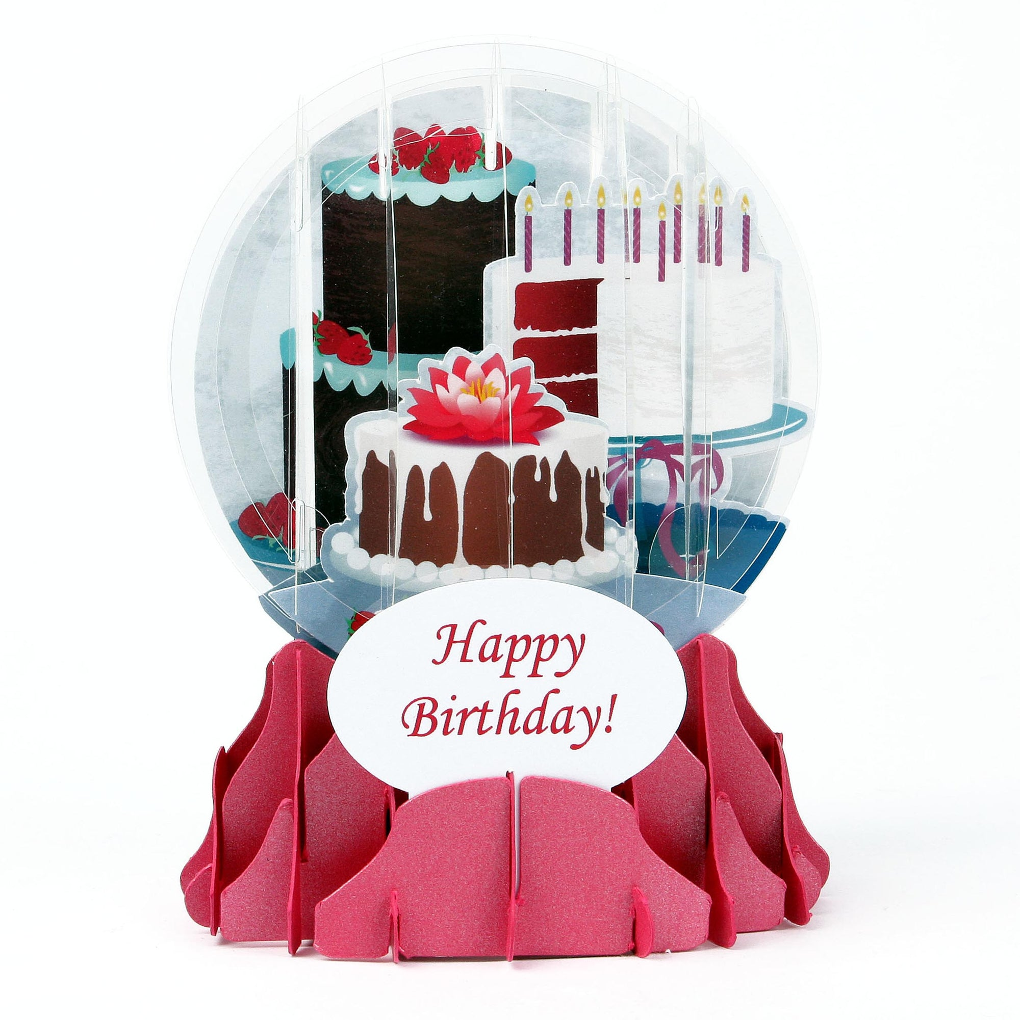 Birthday Cake Pop-Up Snow Globe Card - Heart of the Home PA