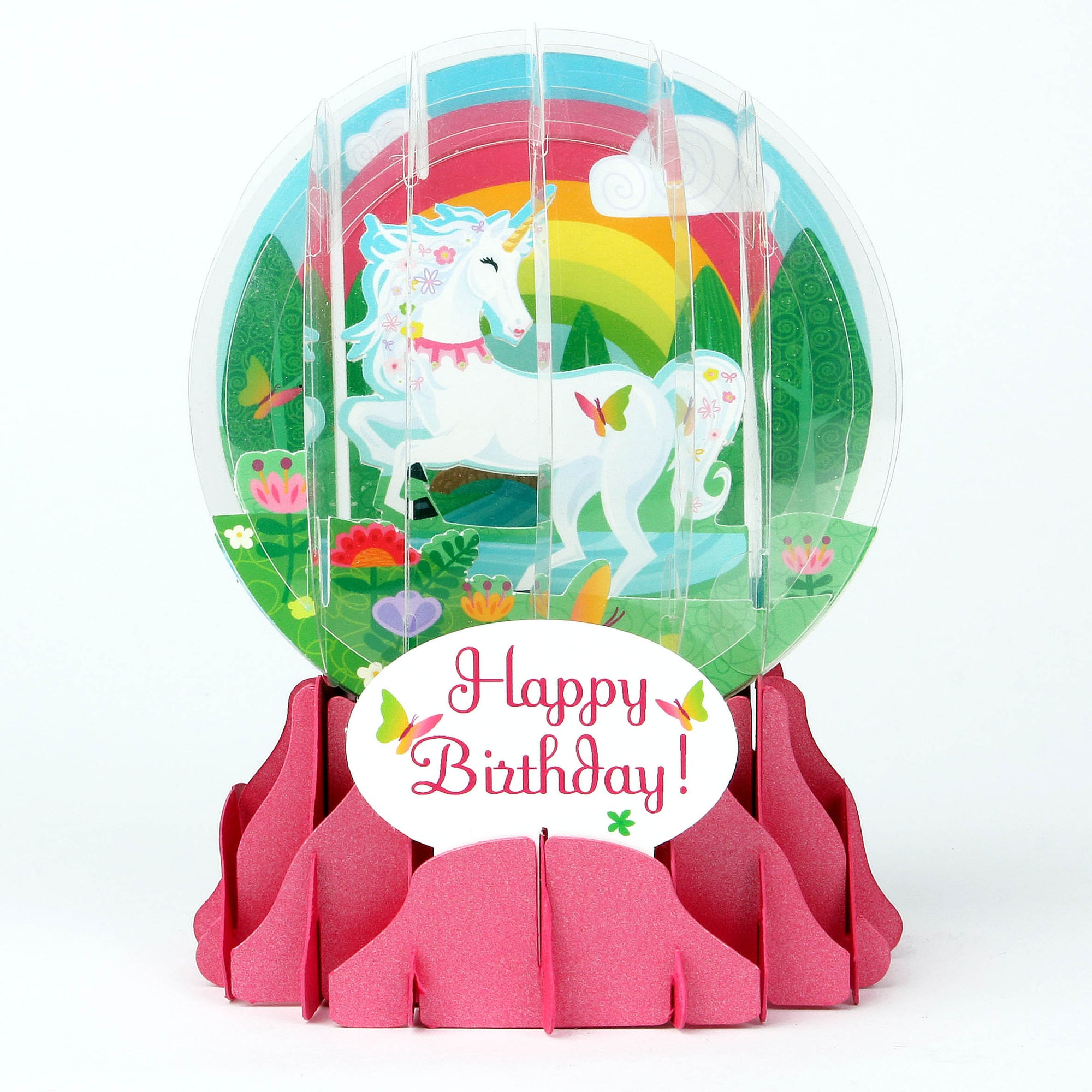 Unicorn Pop-Up Snow Globe Card - Heart of the Home PA