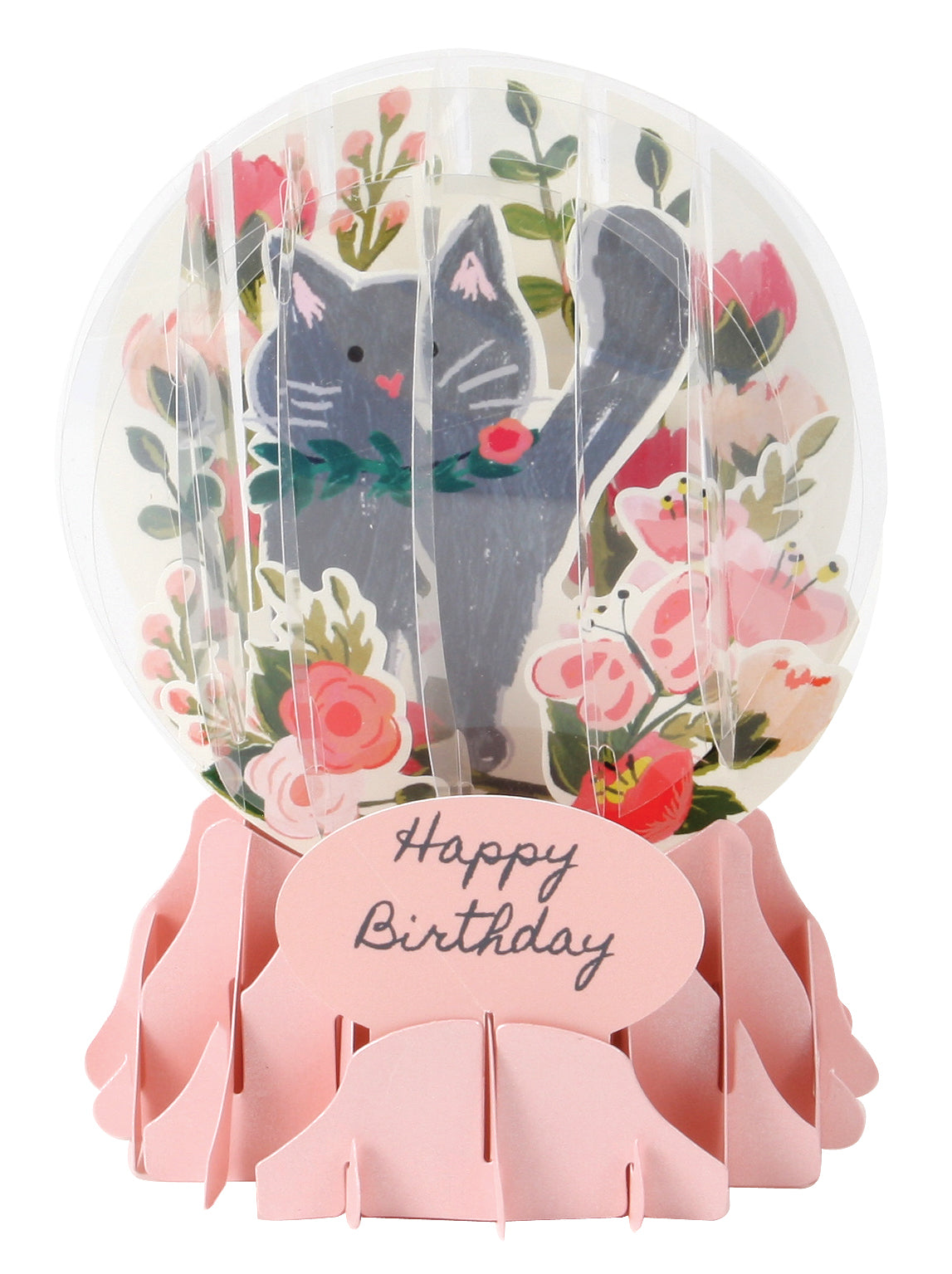 Botanical Cat Pop-Up Snow Globe Card - Heart of the Home PA