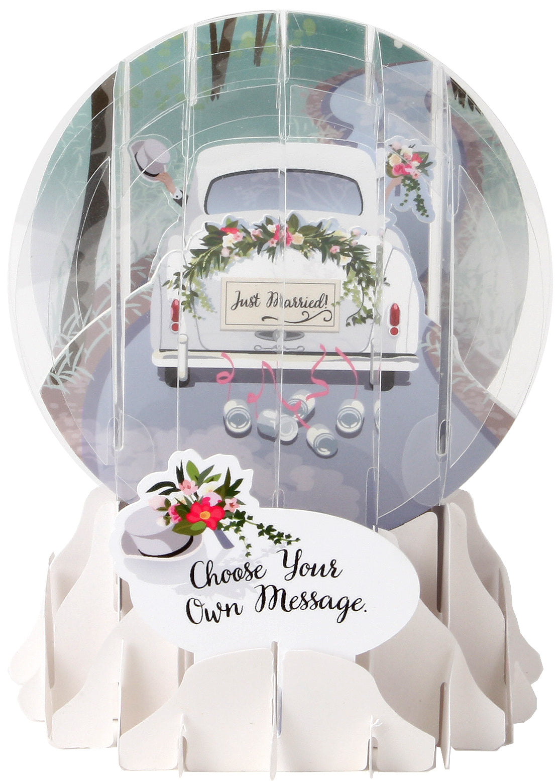 Wedding Car Pop-Up Snow Globe Card - Heart of the Home PA