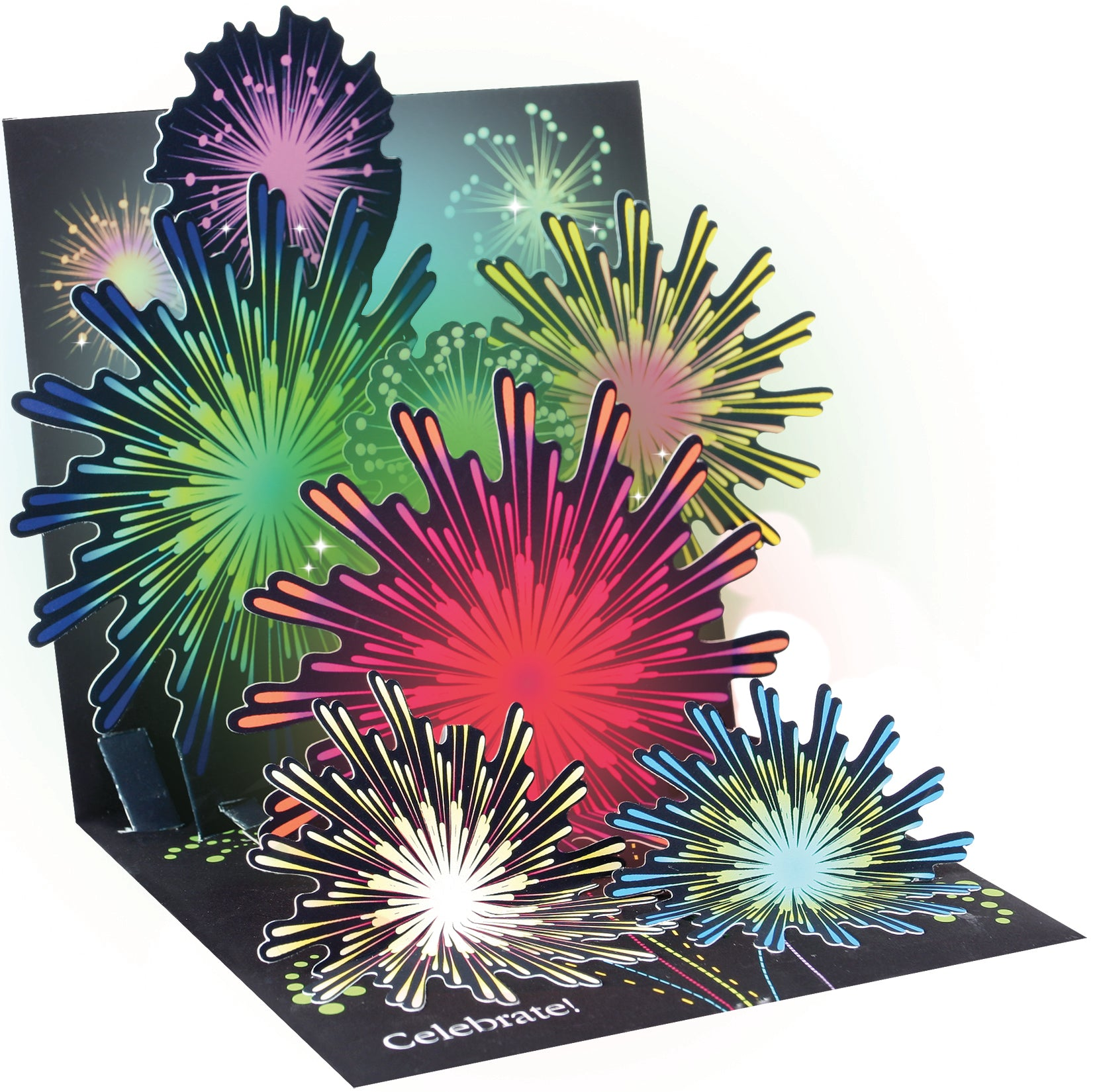 Lit Fireworks Pop-Up Card - Heart of the Home PA