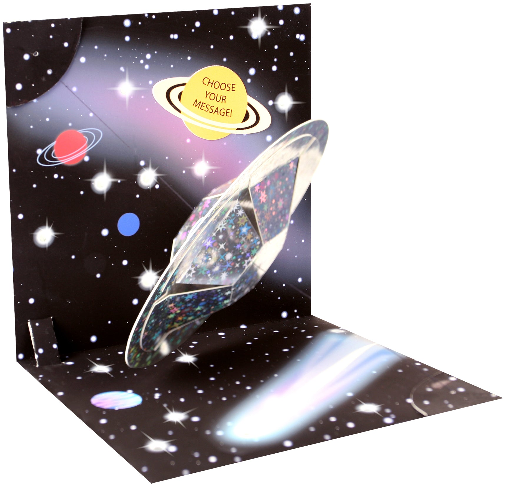 Lit Outer Space Pop-Up Card - Heart of the Home PA
