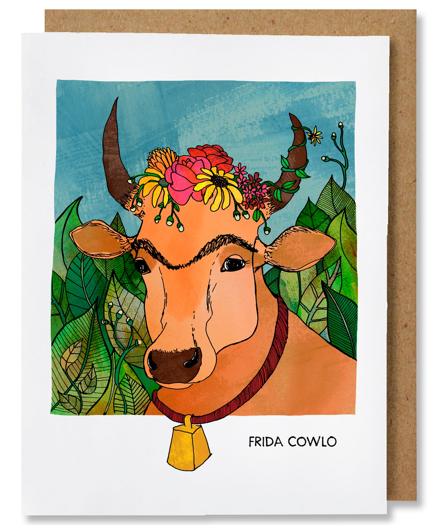 Frida Cowlo Greeting Card - Heart of the Home PA