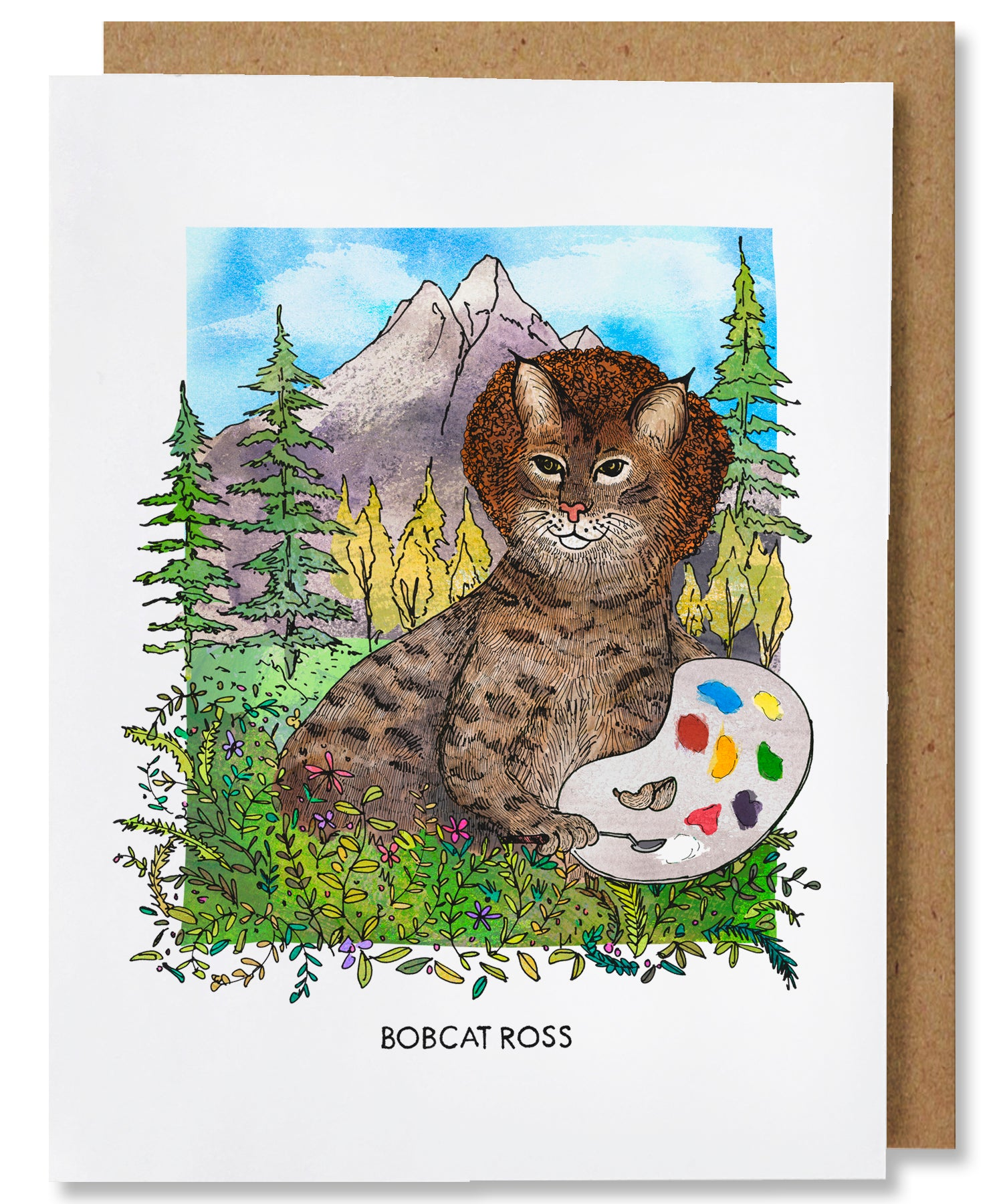 Bobcat Ross Greeting Card - Heart of the Home PA