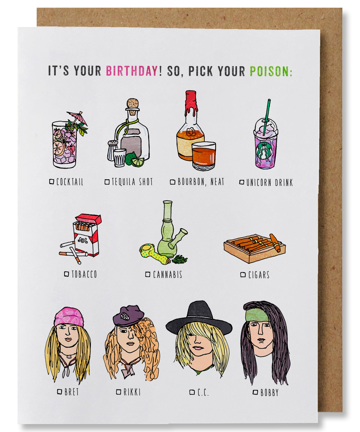 Pick Your Poison Birthday Card - Heart of the Home PA
