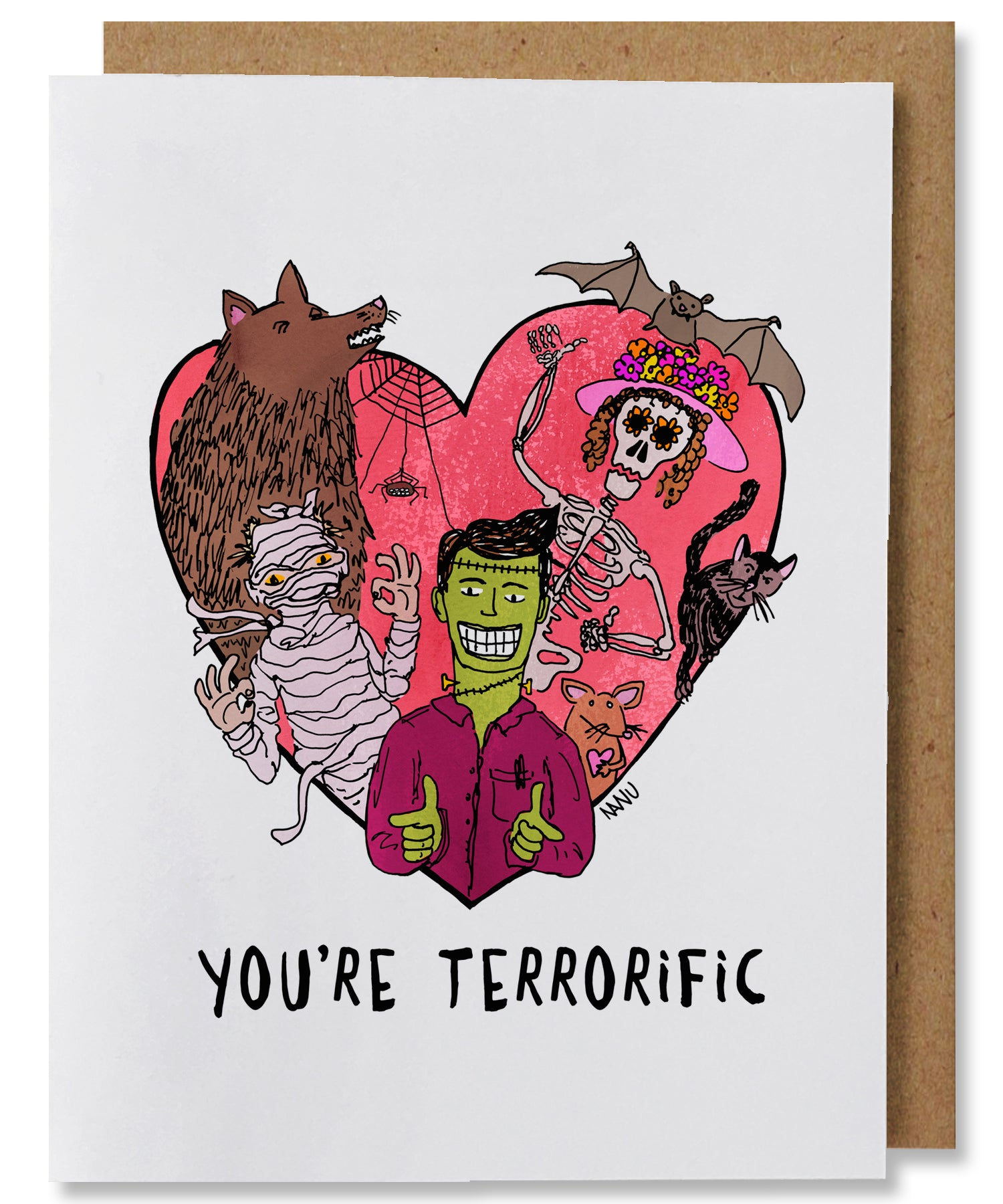 You're Terrorific Greeting Card - Heart of the Home PA