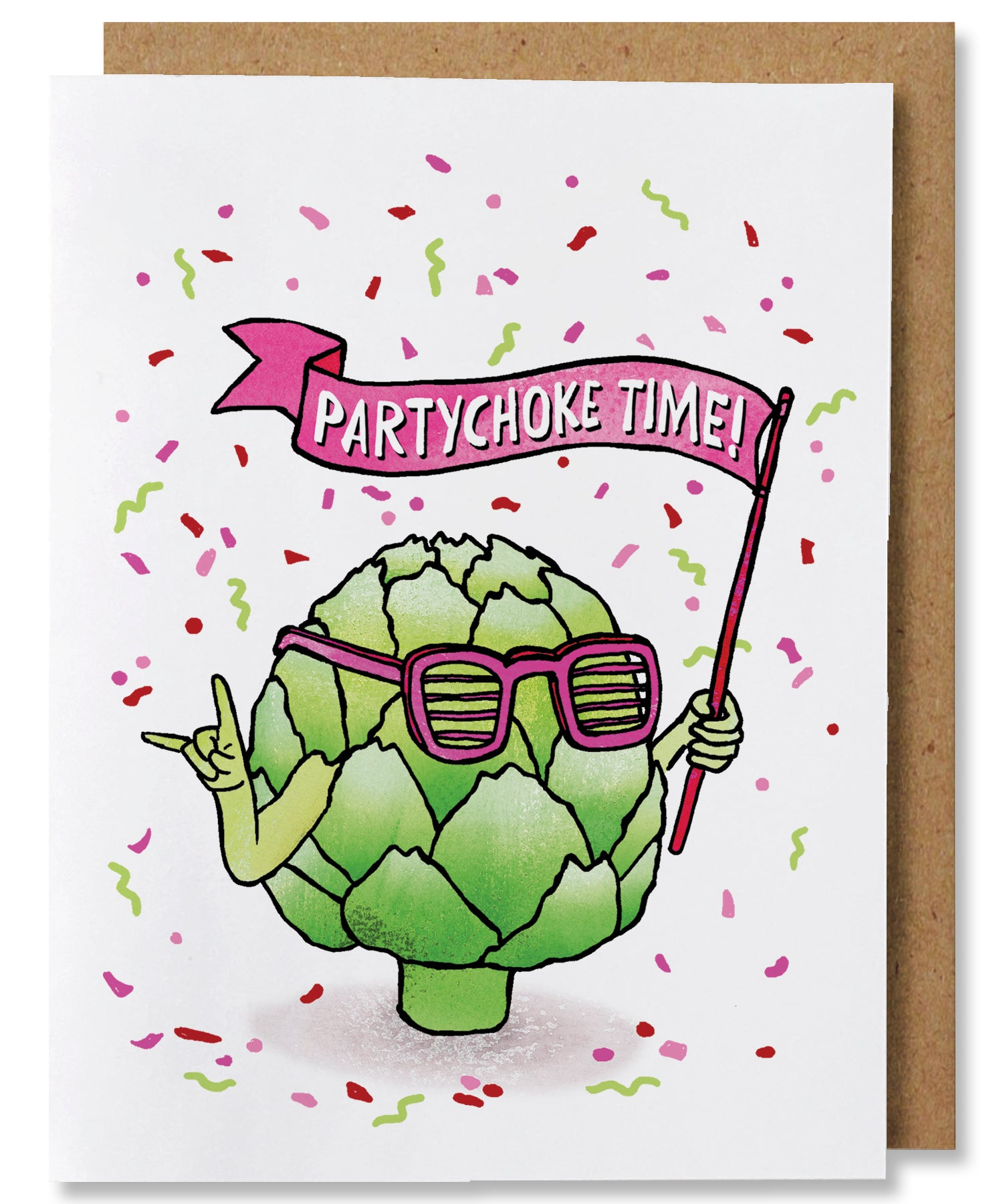 Partychoke Time Greeting Card - Heart of the Home PA