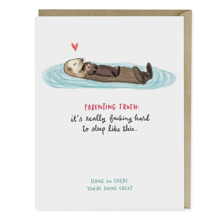 Baby Otter Parenting Truth Card - Heart of the Home PA