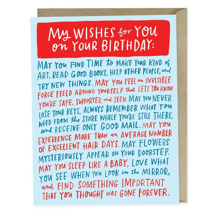 Wishes for Your Birthday Card - Heart of the Home PA