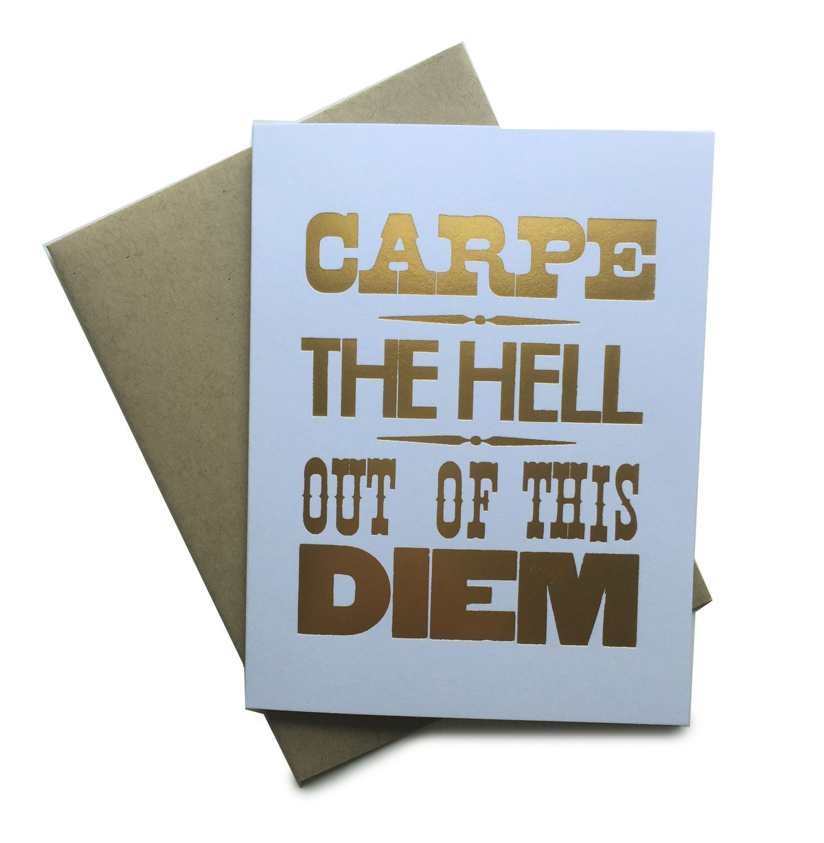Carpe The Hell Out of This Diem Notecard - Heart of the Home PA