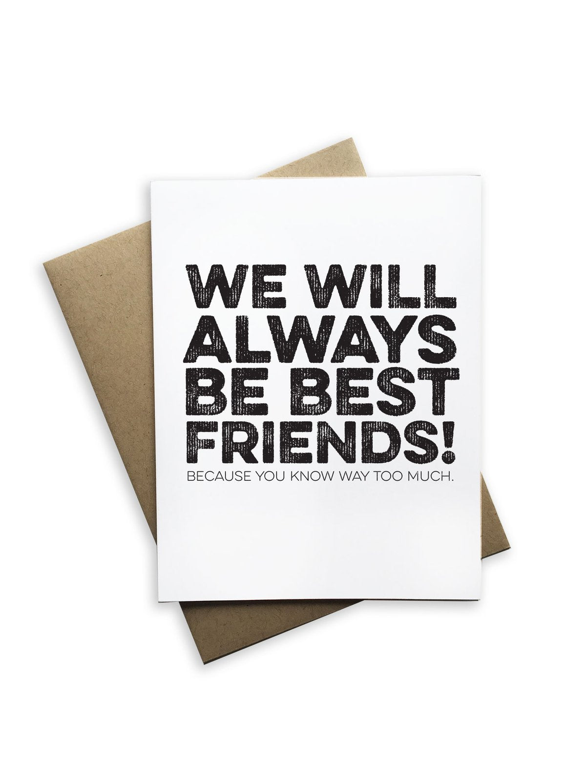 We Will Always Be Best Friends Notecard - Heart of the Home PA