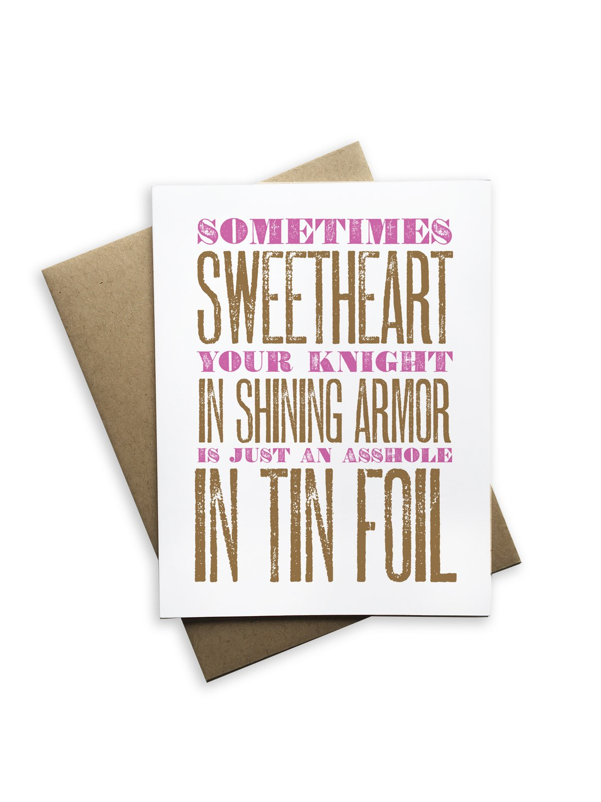 Knight in Shining Armor Notecard - Heart of the Home PA