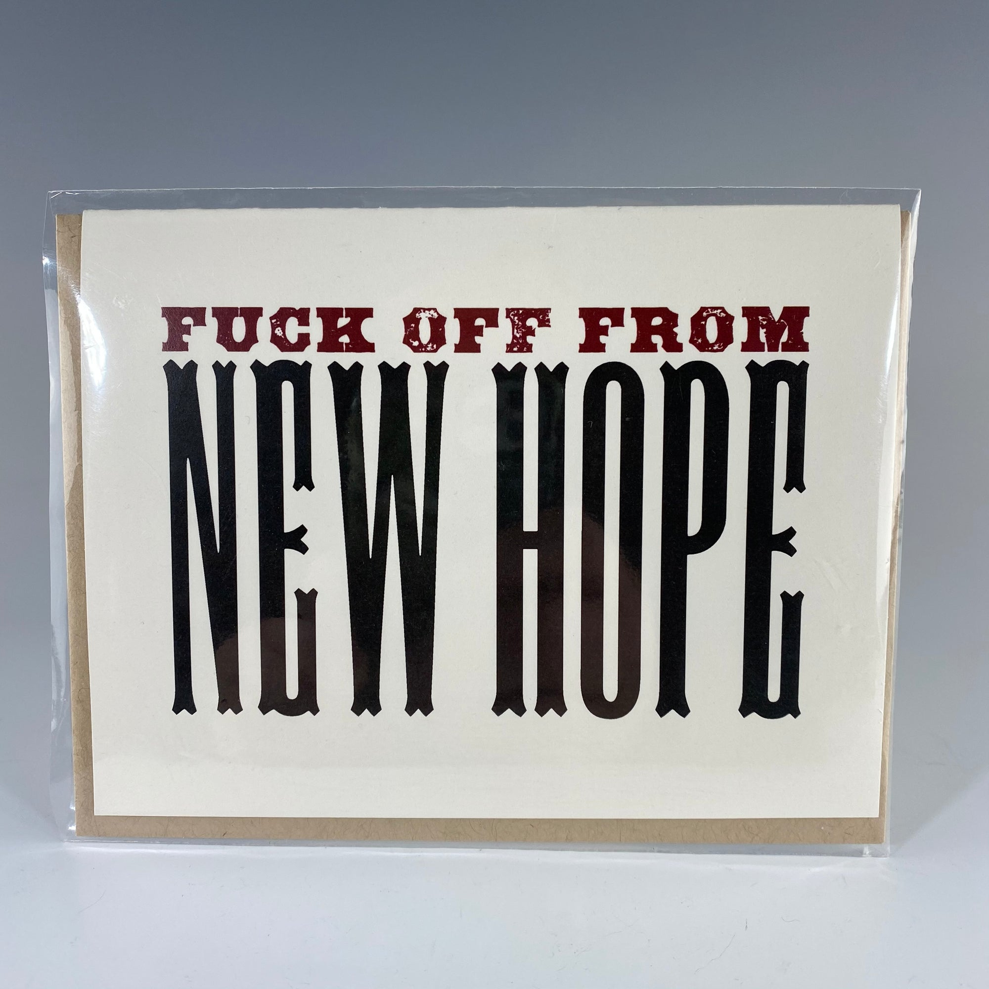F*ck Off From New Hope Card - Heart of the Home PA