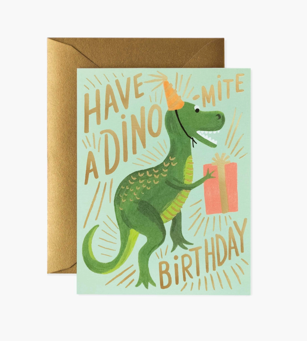 Dino-Mite Birthday Card - Heart of the Home PA