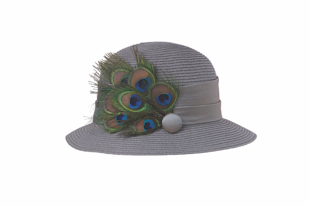 Peacock Cloche in Grey - Heart of the Home PA