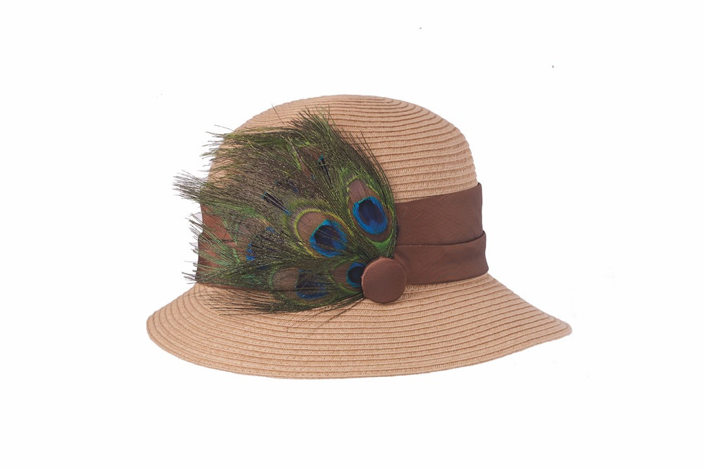 Peacock Cloche in Natural