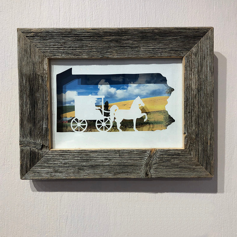 Pennsylvania Buggy Barnwood Frame - Heart of the Home PA