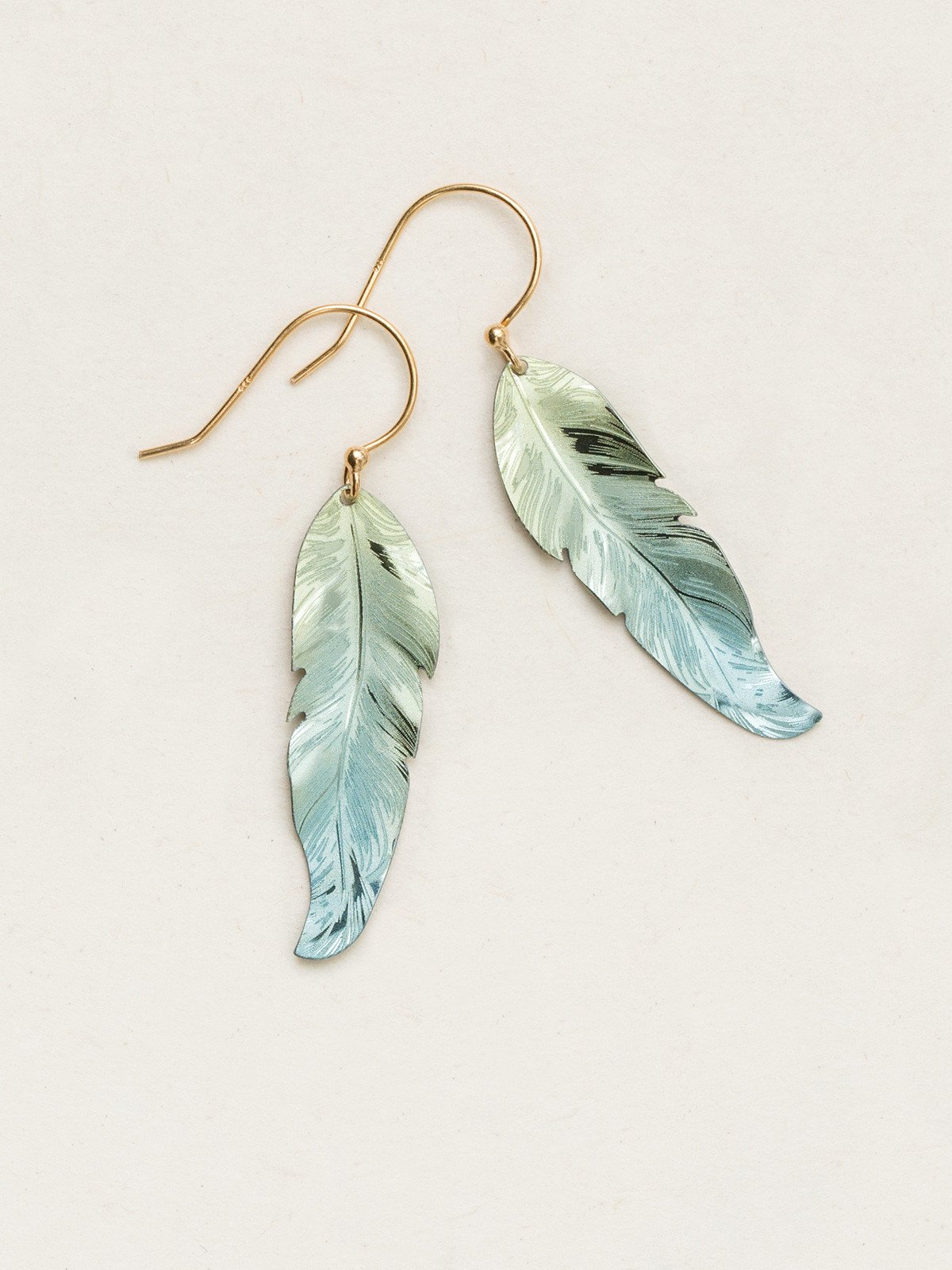 Petite Free Spirit Feather Earrings - Heart of the Home PA